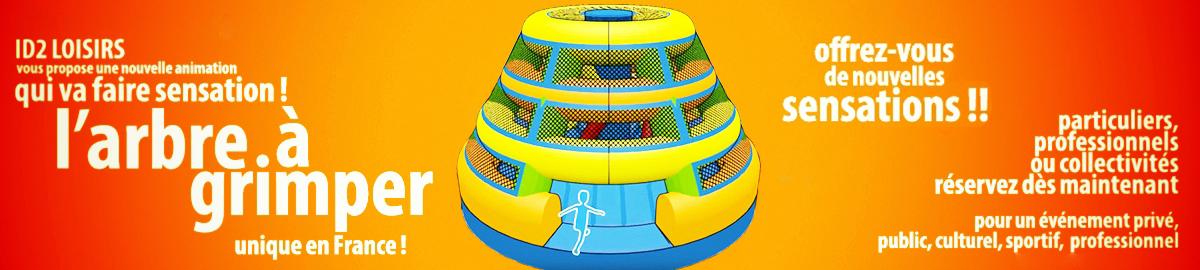 jeux gonflables enfants arbre à grimper id2 loisirs