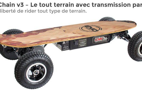 Skate électrique cross 800 V6
