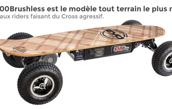Skate électrique cross 1000 V2 Brushless