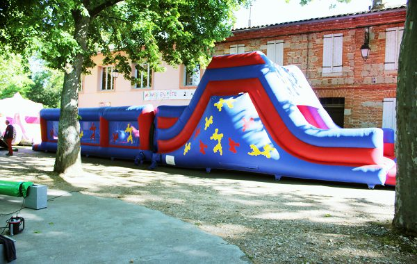 Parcours obstacles gonflables