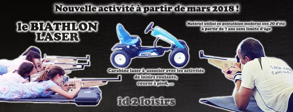 Nouvelle activité innovante : le biathlon laser chez id2 loisirs en mars 2018 !