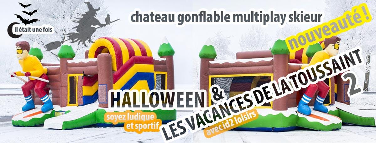 Nouvelle activité automne 2018 : le château gonflable multiplay skieur !