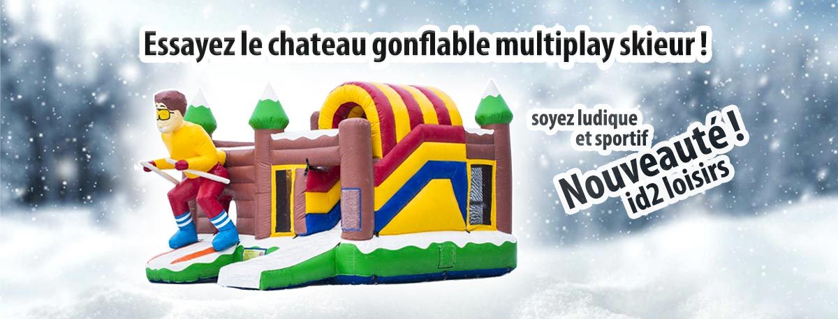 Chateau gonflable multiplay skieur