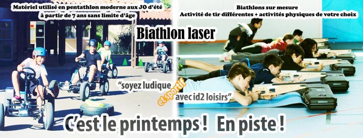 C'est le printemps ! En piste ! En mode biathlon laser.
