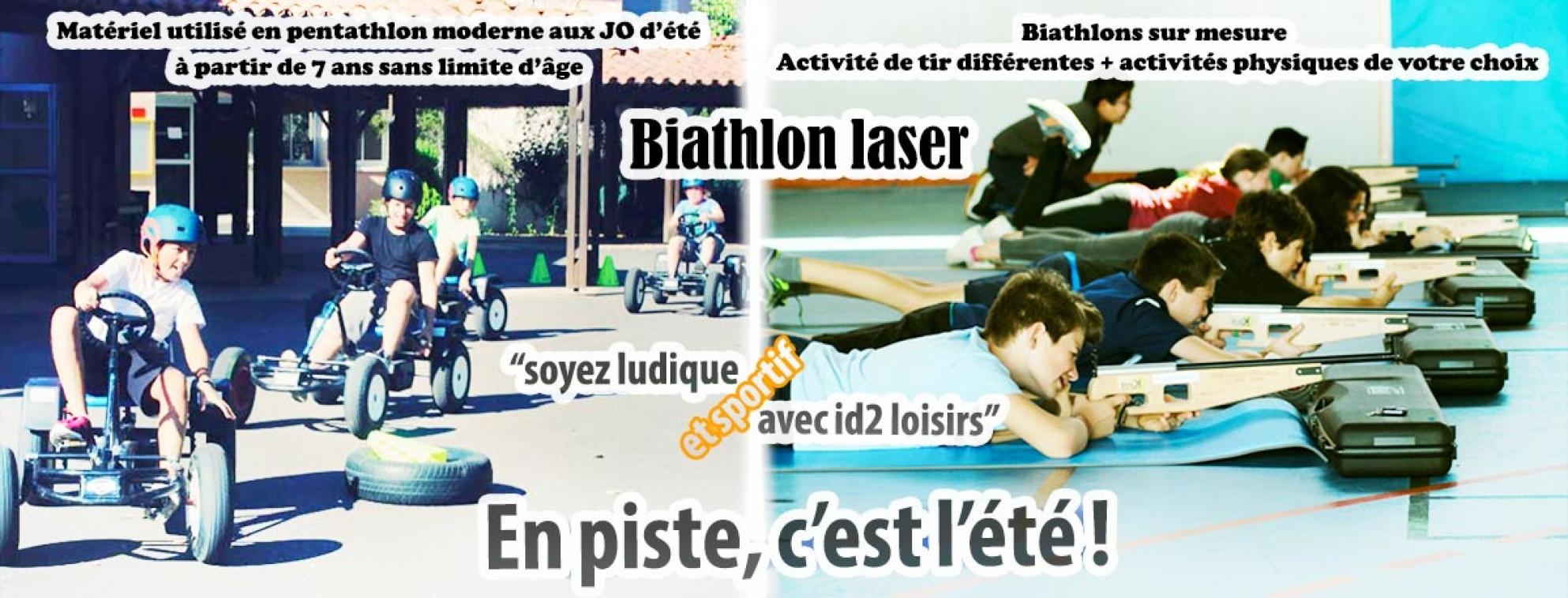 C'est l'été ! En piste ! En mode biathlon laser.