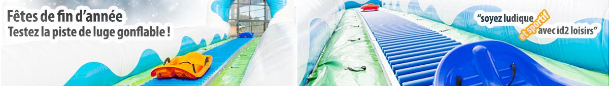 Fêtes de fin d'année, testez la piste de luge gonflable avec id2 loisirs !