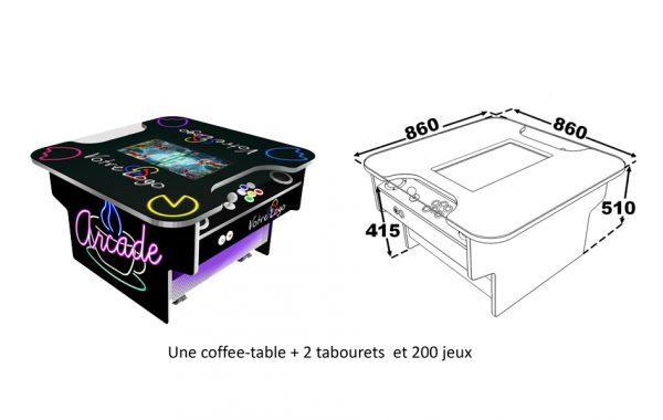 Jeux d'arcades Coffee table | Nouveauté 2020