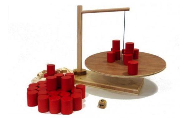 Jeu en bois : Ziboum géant (jeu à bascule)
