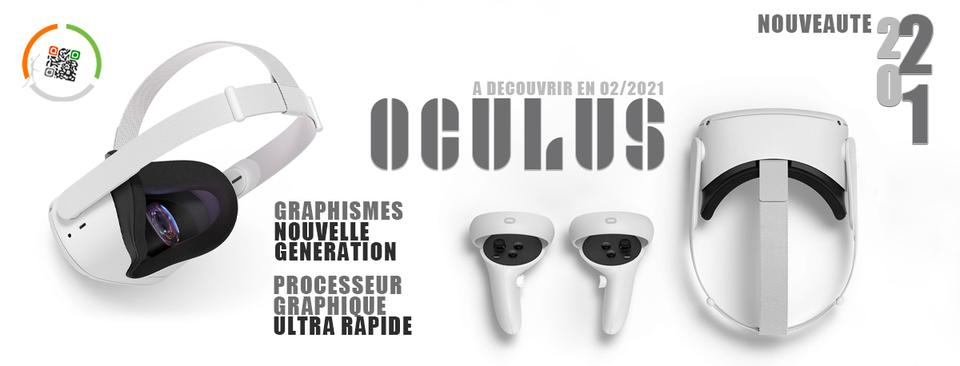 Nouveauté 02/2021 : Occulus, le casque de réalité virtuelle sans fil