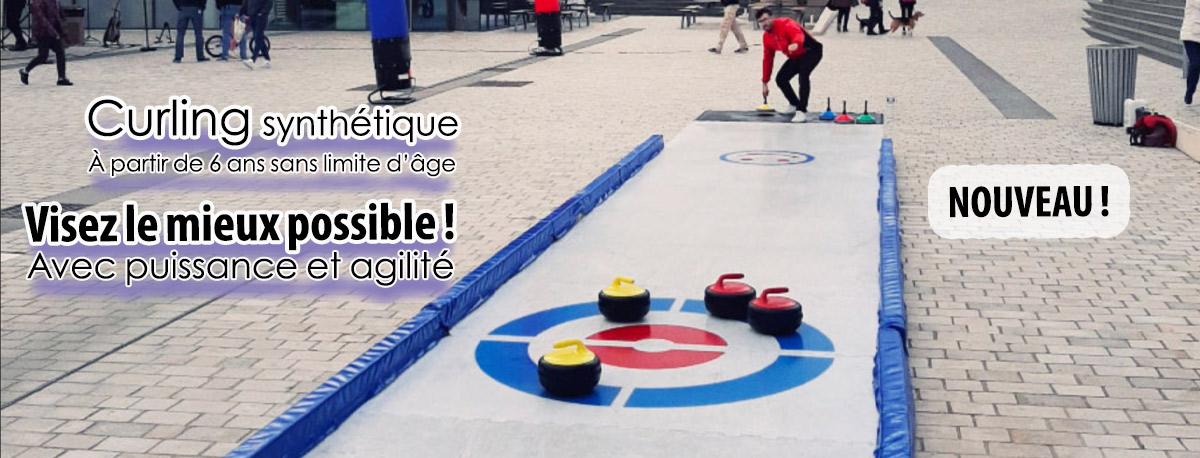 curling synthétique ludique et sportif avec id2loisirs