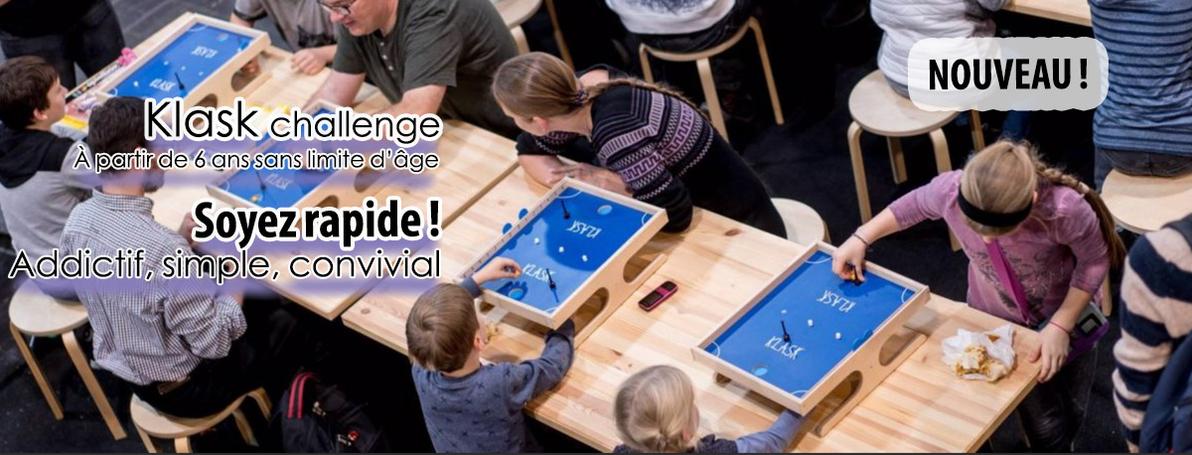 Klask challenge, stratégie et rapidité !